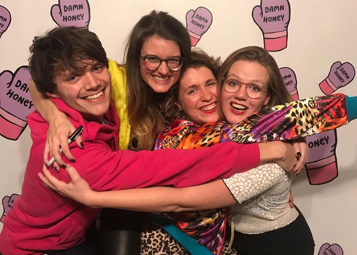 Daniël, Nydia, Marie Lotte en Cato