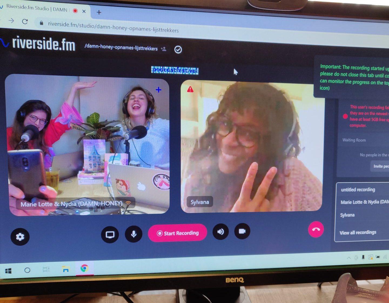 Lijsttrekker van BIJ1, Sylvana Simons, schoof via videocallaan bij DAMN, HONEY de podcast om te praten over feminisme