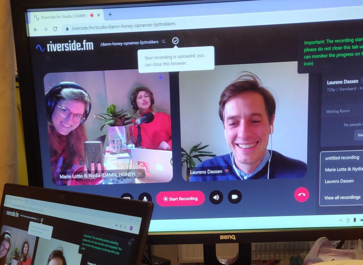 Lijsttrekker Laurens Dassen van Volt schuift via videocall aan bij DAMN, HONEY om te praten over feminisme