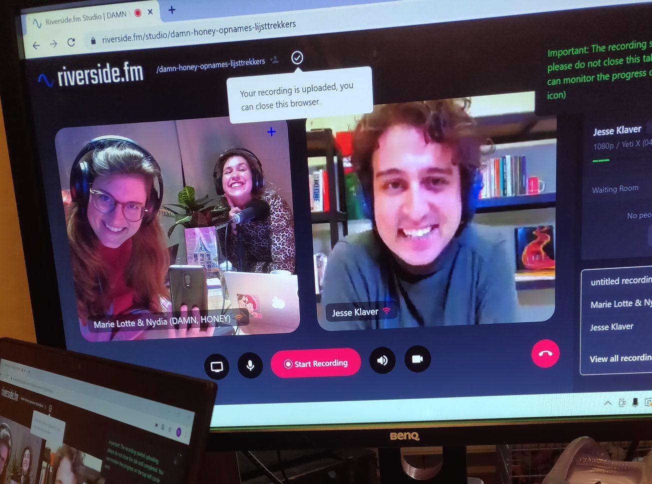 Lijsttrekker van GroenLinks, Jesse Klaver, belde online in bij DAMN, HONEY de podcast om te praten over feminisme
