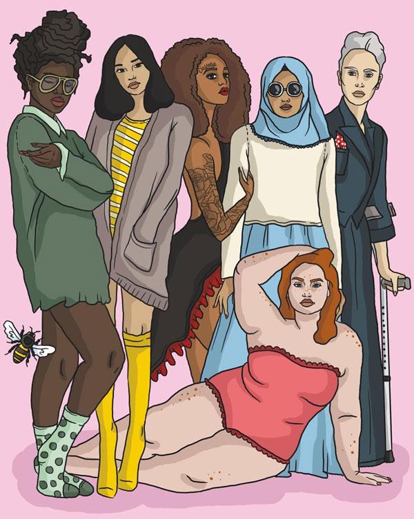 Damn Honey boek - feministisch pamflet - Marie Lotte Hagen & Nydia van Voorthuizen Illustraties Mignon Nusteling
